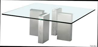 Table Basse Aria En Acier Chrome Et Verre