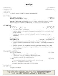 Biology Resume 2 Example Teacher Examples 2017