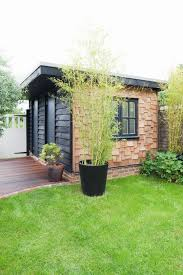 garden office pod brighton. Flat Roof Garden Shed / Office | Timber Cladding Contrasting Permitted Development Sustainable Materials Room In The Brighton Pod