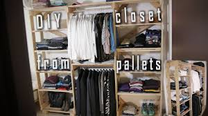 how to make a closet out of pallets diy