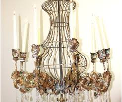 chandeliers rustic metal chandelier wood and antique farmhouse huge big candle tin w crystals for home