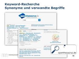Recherche synonym