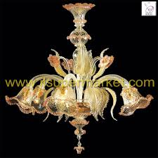 murano glass chandelier secolo 6 lights