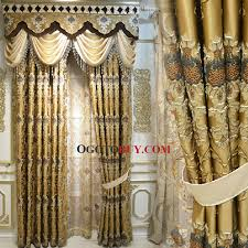gold curtains living room. elite luxury gold color cotton/poly blend fabric living room curtain (no valance) curtains
