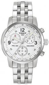 t17158632 tissot prc200 quartz chronograph mens silver dial steel tissot prc 200 quartz chronograph t17 1 586 32