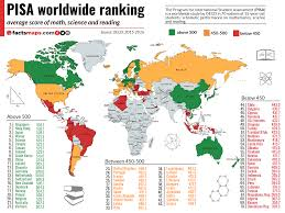 Map Score Chart Pisa 2015 Worldwide Ranking Average Score Of Math Science