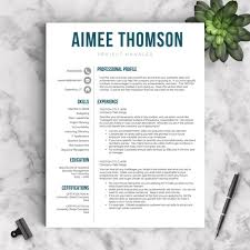 Resume Templates Pages New Creative Resume Template For Word Pages 48 48 And 48 Page Etsy
