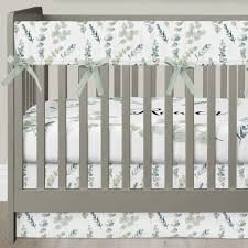 Light Green Crib Skirt Going Green Crib Bedding 3 Pcs Rail Guards Sheet Skirt