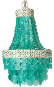 bring some coastal bliss to your home with this colorfulmanor turquoise capiz seas chandelier handmade from capiz seas and bleached coconut discs