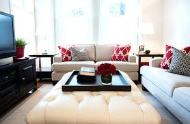 Decorating An Ottoman With Tray Ottoman Center Table Round Center Table Living Room Contemporary 71