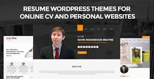 Wordpress Resume Theme Inspiration Resume WordPress Themes For Online CV Personal Websites SKT
