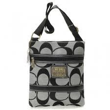 Coach Legacy Swingpack In Signature Small Grey Crossbody Bags AVA
