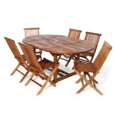 all things cedar 7 piece teak oval