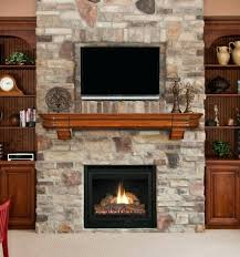 low fireplace with tv above fake stand big lots ed