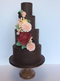 Amy Beck Cake Design Painted Chocolate Wedding Cake Amy Beck Cake Design