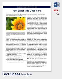 Fact Sheet Template Best 48 Facts Sheet Template Paystub Format