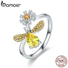 BAMOER <b>100</b>% <b>Authentic 925 Sterling</b> Silver Fashion Bee with ...