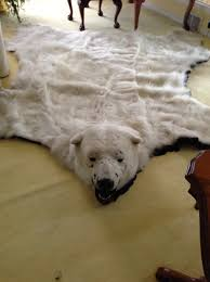 bear skin rugs with head for