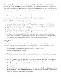 college essay writing activity exercises to prep for essay writing