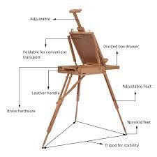 homcom wooden art easel tripod sketch artist painters craft portable folding drawing board lightweight co uk kitchen home