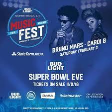 Bud Light Super Bowl Music Festival Bud Light Super Bowl Music Fest Bruno Mars Cardi B