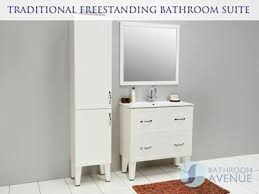 Traditional Freestanding Tall Bathroom Cabinet White Classico