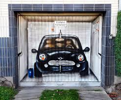airbrushed art on a garage door