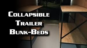 Fold Down Bunk Beds Collapsible Trailer Bunk Beds Youtube