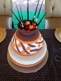 Traditional African Pots Wedding Cake African Fashion African