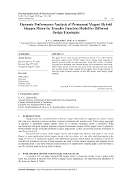 pdf dynamic performance ysis of permanent magnet hybrid stepper motor by transfer function model for diffe design topologies
