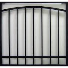 Burglar Bar Door Designs Gatehouse Arched 30 In Black Arched Window Security Bar