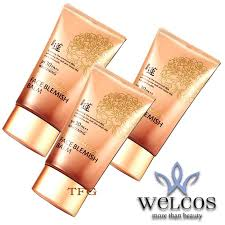 welcos no makeup face blemish balm spf30 pa whitening 50ml 3 กล อง