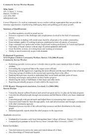 Community Service Resume Template Community Worker Resume Sales