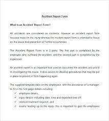 Free Incident Report Form Printable Ohs Template Monster