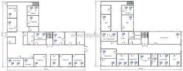 Компьютерные сети dipcurs Предпроектная ситуация дипломной работы планы первого и второго этажей