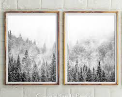 set of 2 forest prints scandinavian wall art forest photography landscape wall art black and white photography prints scandi print on wall art black and white photography with black and white photography etsy