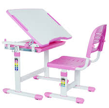 kids desk vivo height adjule childrens chair interactive work station pink