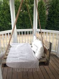 diy swing bed rustic wooden crate swing diy recycled trampoline hanging bed
