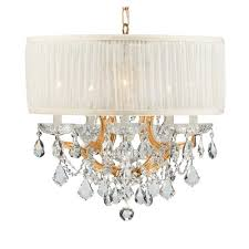 crystorama lighting group bwood polished gold maria theresa chandelier with clear swarovski strass crystal and with