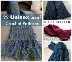 Crochet Patterns For Scarves Adorable 48 Unisex Scarf Crochet Patterns AllFreeCrochet