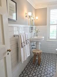 love this vintage inspired bath! Tile On Bathroom WallFamily BathroomSmall  ...