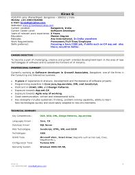 Mca Fresher Resume Objective Sidemcicek Com