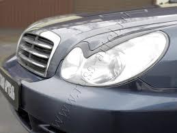 <b>Накладки на передние фары</b> (реснички) Hyundai Sonata 2002-2009