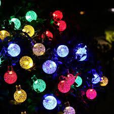 Holigoo Led Strip 30 LED Crystal Ball Light String Solar Power Cheap Solar Fairy Lights