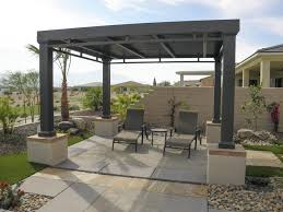 free standing aluminum patio cover. Freestanding Patio Cover With Custom Concrete Design, Indian Wells, CA, 92210 Free Standing Aluminum