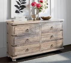 kaplan reclaimed wood 6 drawer wide