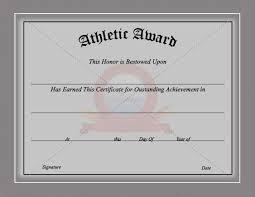 Sports Certificate Template Certificate Templates Award