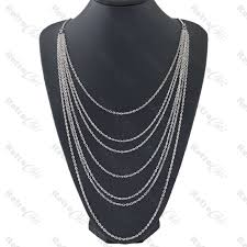 long multi chain layered necklace
