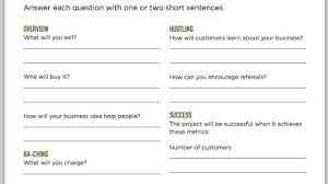 simple one page business plan template fill out a one page business plan and get your business