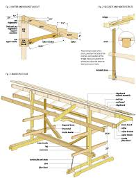 diy outdoor firewood rack storage plan with bracket roof and reclaimed wood ideas